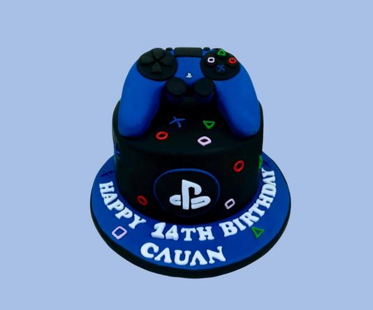 Playstation cake.