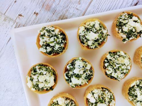 Feta & spinach bites