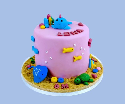 Under the sea themed cake.