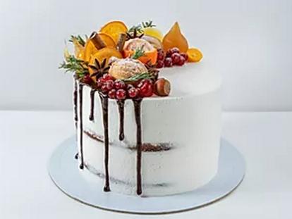 Orange dark chocolate cake