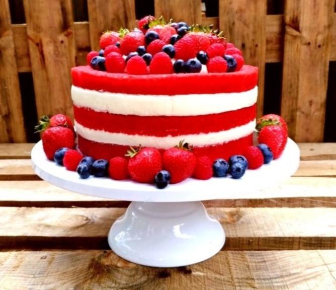 Berry Red Velvet Cake