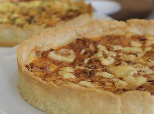 Jackfruit vegan quiche