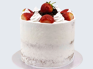Strawberry cream cake freshly made to order