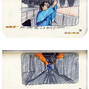 areneingang - Screenplay and Story board - Cover page and page 39 -  12.5 cm x 21 cm - 2011