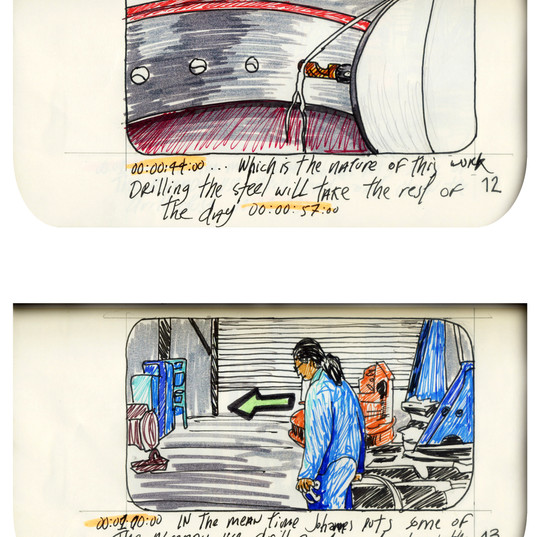 areneingang - Screenplay and Story board - Cover page and page 13 -  12.5 cm x 21 cm - 2011
