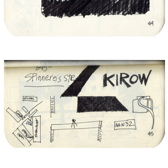 areneingang - Screenplay and Story board - Cover page and page 45 -  12.5 cm x 21 cm - 2011
