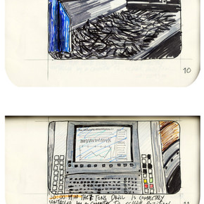 areneingang - Screenplay and Story board - Cover page and page 11 -  12.5 cm x 21 cm - 2011