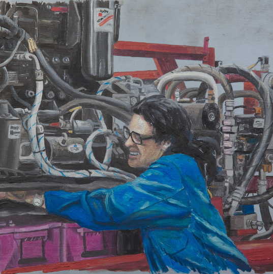 Kirow 4 - 40cm x 30cm- - Oil on Aluminum - 2011