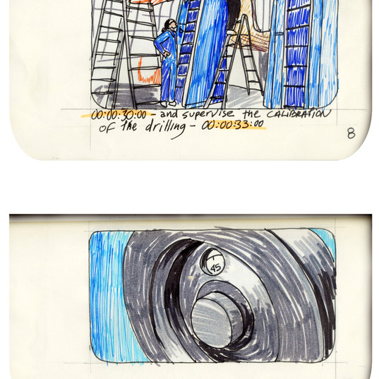 areneingang - Screenplay and Story board - Cover page and page 9 -  12.5 cm x 21 cm - 2011