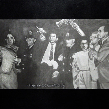 They are too comfortable - Silver and oil on panel - 45cm x 60cm - 2007