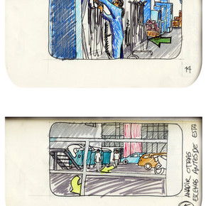 areneingang - Screenplay and Story board - Cover page and page 15 -  12.5 cm x 21 cm - 2011
