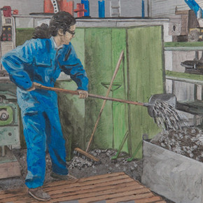 Kirow 1 - 20cm x 40cm - Oil on Aluminum - 2011