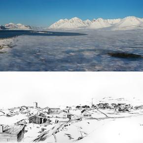 Kingsbay, NyÅlesund - 2 x 41.91cm x 179.37cm Color Photograph and Carbon Based Ink on Photo Paper - 2015
