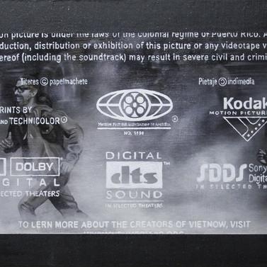 VIETNOW - Resin, diamond dust,stainless steel, iron oxide, mica, granite, graffito, aluminum and oil on panel - 40cm x 80cm - 2010