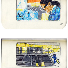 areneingang - Screenplay and Story board - Cover page and page 27 -  12.5 cm x 21 cm - 2011