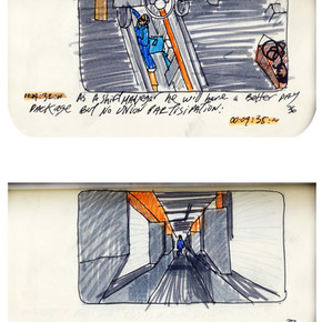 areneingang - Screenplay and Story board - Cover page and page 37 -  12.5 cm x 21 cm - 2011