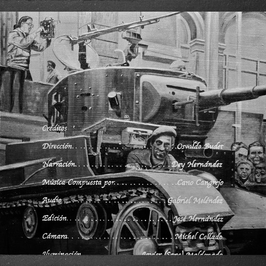 Trosky y la guerra civil española IV - Resin, diamond dust, stainless steel, iron oxide mica, granite, graffito, aluminum and oil on panel - 80cm x 80cm - 2010