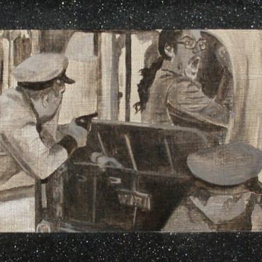 Jayuya 1950 - Graphite,stainless steel, diamond dust, aluminum and oil on panel - 20cm x 80cm - 2008