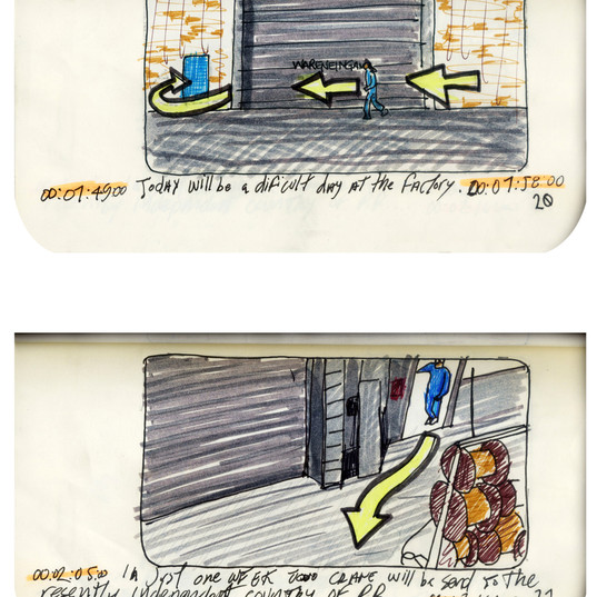areneingang - Screenplay and Story board - Cover page and page 21 -  12.5 cm x 21 cm - 2011