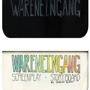 areneingang - Screenplay and Story board - Cover page and page 1 -  12.5 cm x 21 cm - 2011