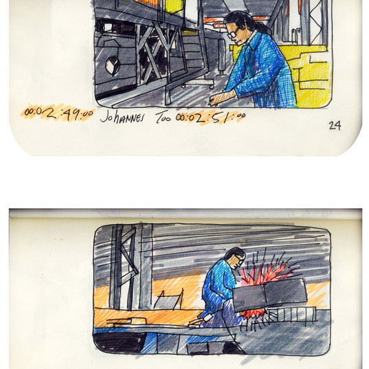 areneingang - Screenplay and Story board - Cover page and page 25 -  12.5 cm x 21 cm - 2011