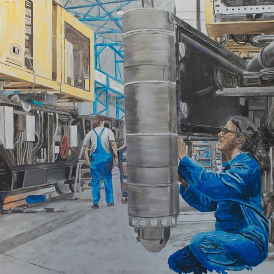 Kirow IV - 80cm x 120cm - Oil on Aluminum - 2011