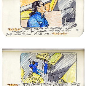 areneingang - Screenplay and Story board - Cover page and page 29 -  12.5 cm x 21 cm - 2011