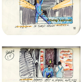 areneingang - Screenplay and Story board - Cover page and page 19 -  12.5 cm x 21 cm - 2011