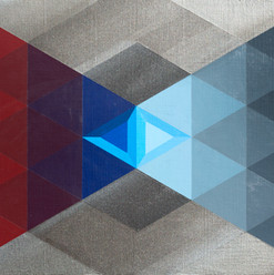 Chronology of a isosceles triangle and its chromatic evolution... - Acrylic on Panel -457mm X 609.5mm  - 2020