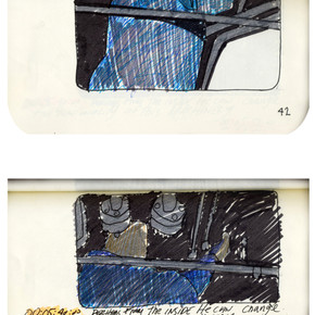 areneingang - Screenplay and Story board - Cover page and page 43 -  12.5 cm x 21 cm - 2011