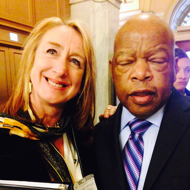John Lewis (a true hero!) at hearings on lead and children's brain development for Flint, Michigan