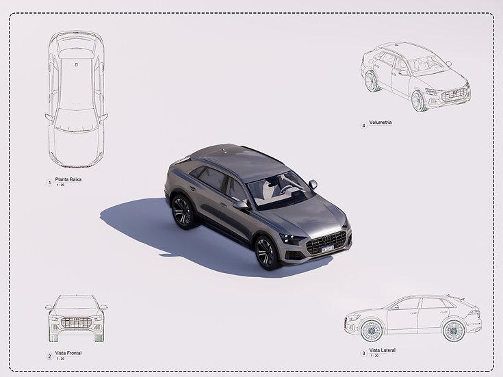 Car Audi Q8 Revit High Quality