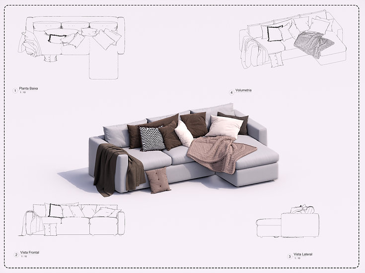 Sofa Revit 12 High Quality
