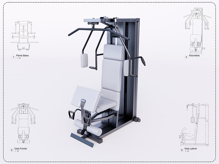 Gym Equipment Revit High Quality