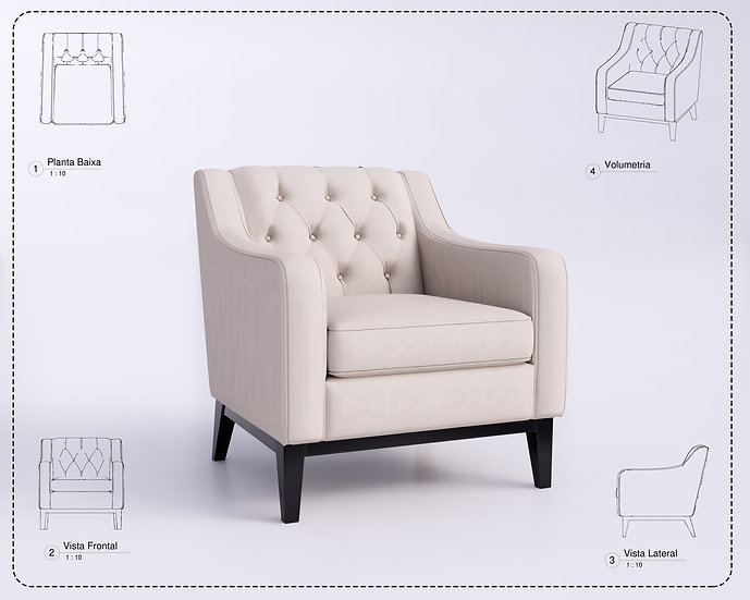 Armchair Revit 40 High Quality