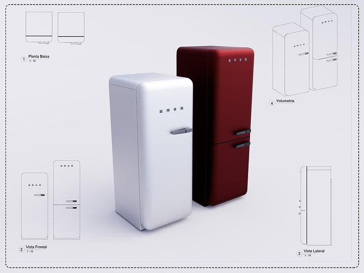 Refrigerator Revit High Quality