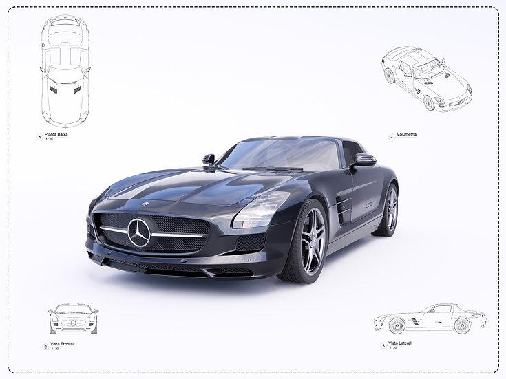 Mercedes SLS Revit High Quality
