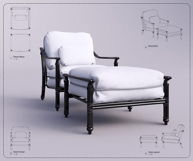 Armchair Revit 39 High Quality