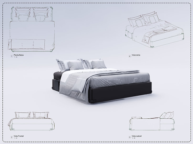 Bed Revit 11 High Quality
