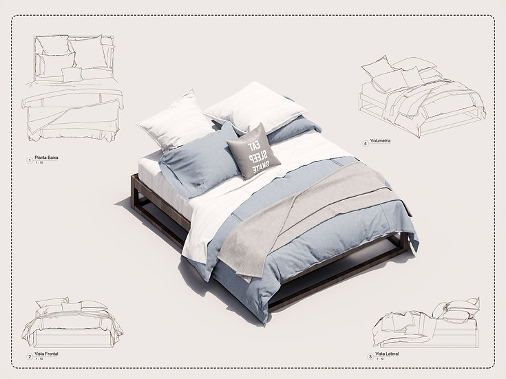 Bed Revit 20 High Quality