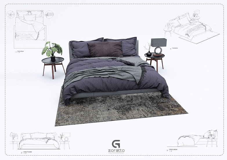 Bed Revit 9 High Quality