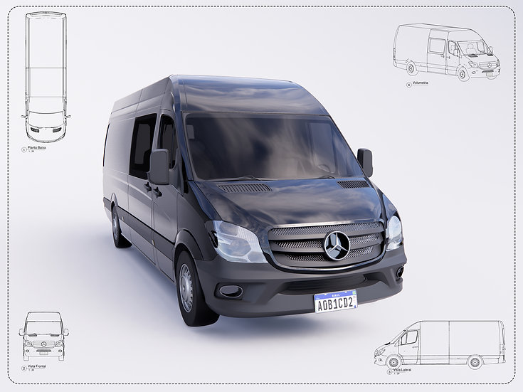 Van Mercedes Benz Revit High Quality