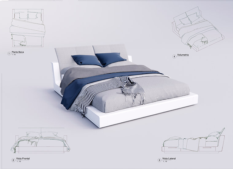 Bed King Revit 23 High Quality
