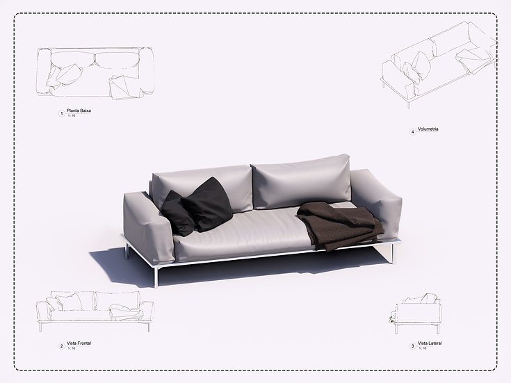 Sofa Revit 22 High Quality