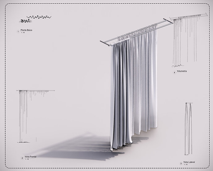Curtain 03 Revit High Quality