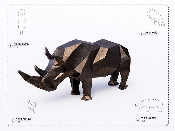 Sculture Rhinoceros High Quality