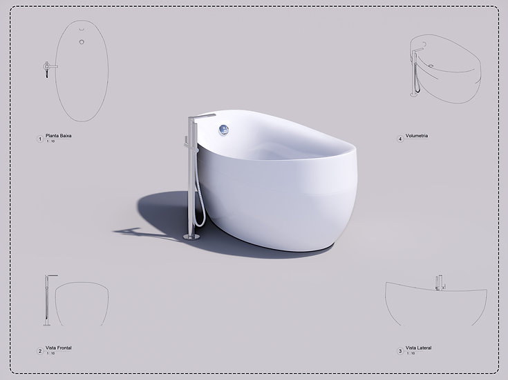 bathtub 01 Revit High Quality