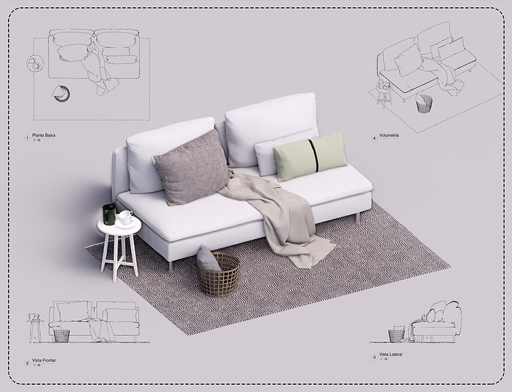 Sofa Revit 45 High Quality
