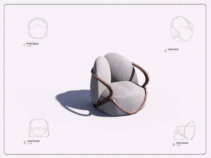 Armchair Revit 24 High Quality