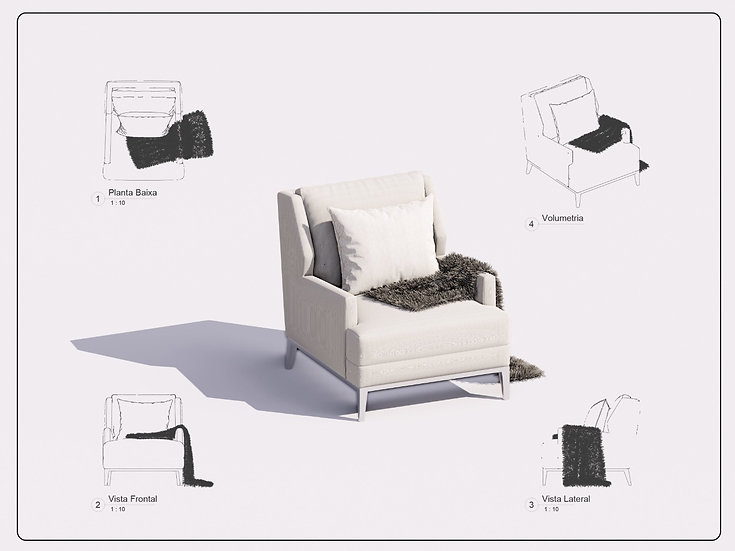 Armchair Revit 22 High Quality